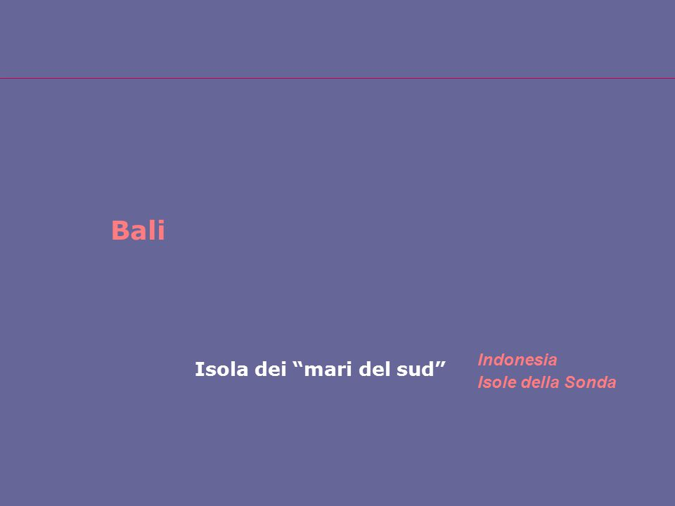 """Bali Isola dei """"mari del sud"""" Indonesia Isole della Sonda"""