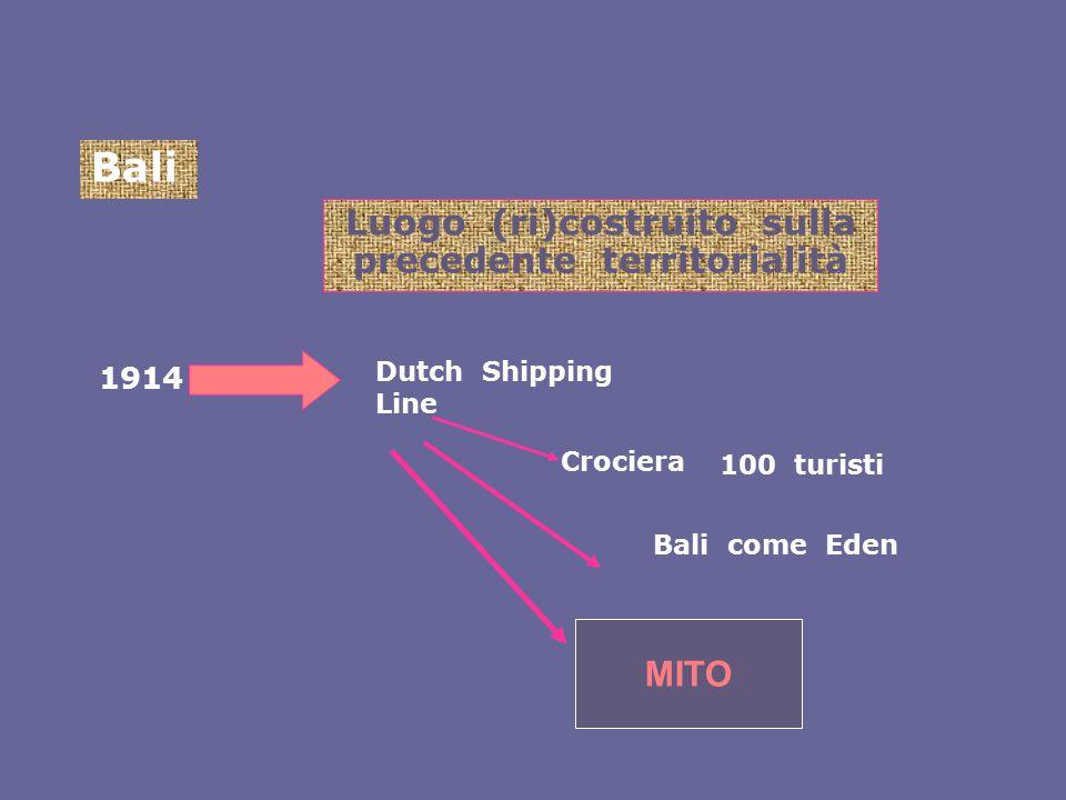Bali Luogo (ri)costruito sulla precedente territorialità 1914 Bali come Eden Crociera Dutch Shipping Line 100 turisti MITO