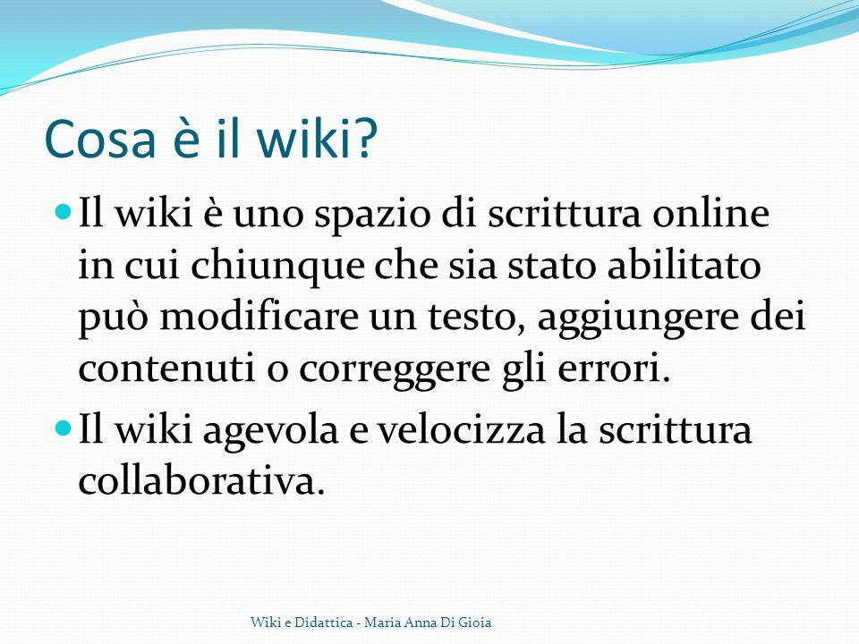 Cosa è il wiki? Il wiki è uno spazio di scrittura online in cui chiunque che sia stato abilitato può modificare un testo, aggiungere dei contenuti o c