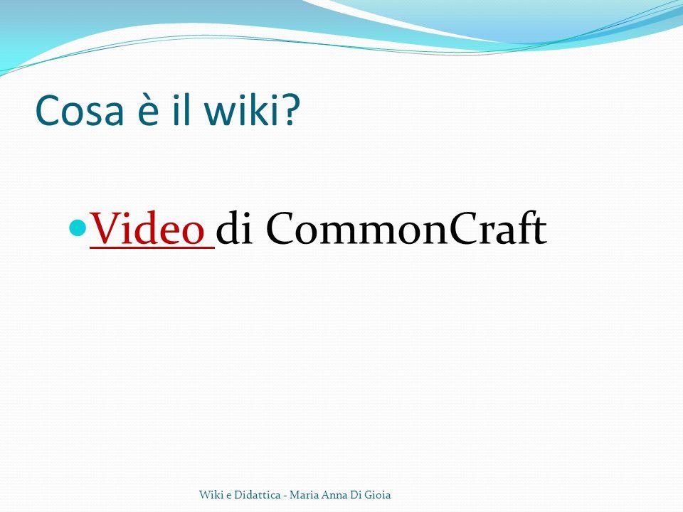 Cosa è il wiki? Video di CommonCraft Video Wiki e Didattica - Maria Anna Di Gioia