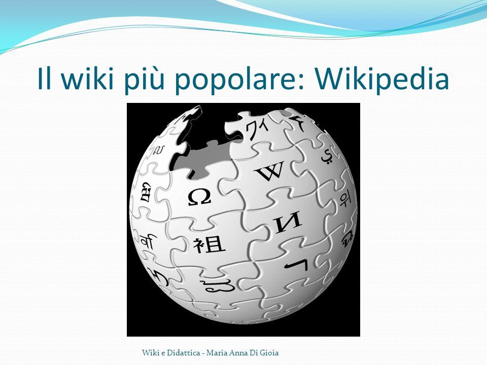 Il wiki più popolare: Wikipedia Wiki e Didattica - Maria Anna Di Gioia