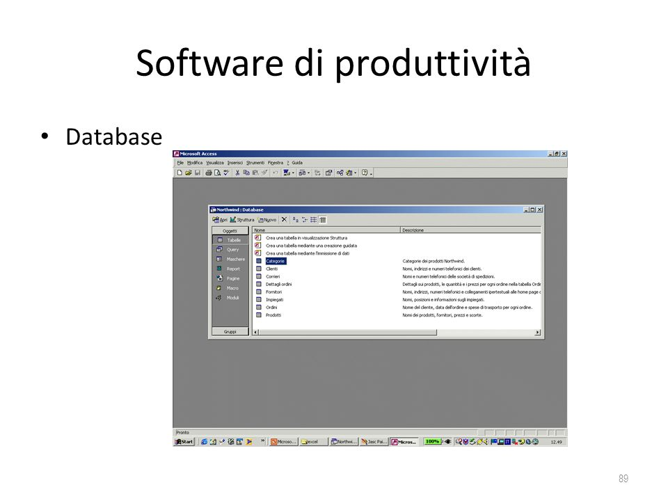 Software di produttività Database 89