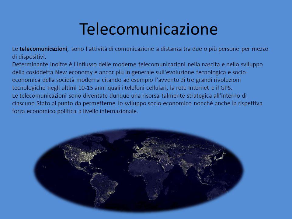 Le telecomunicazioni, sono l attività di comunicazione a distanza tra due o più persone per mezzo di dispositivi.