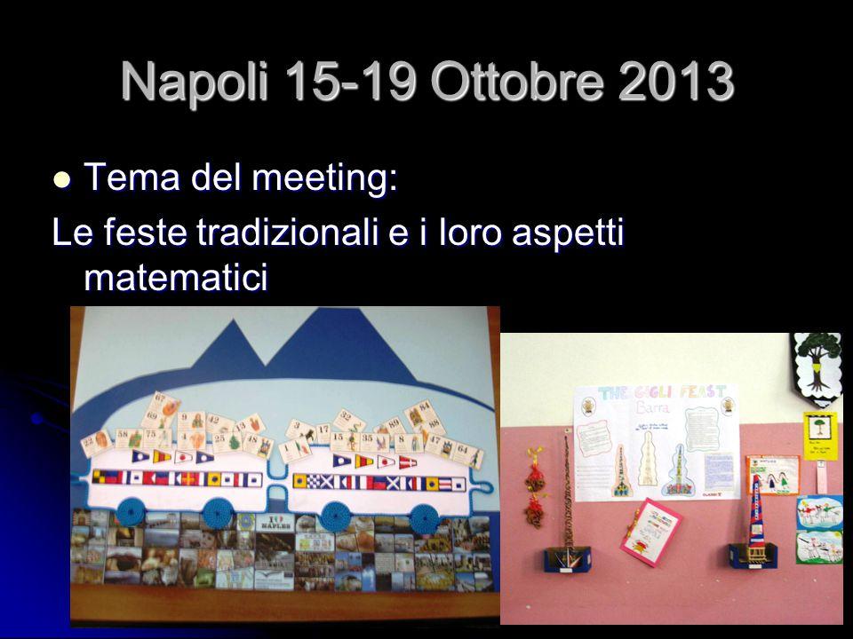 Napoli 15-19 Ottobre 2013 Tema del meeting: Tema del meeting: Le feste tradizionali e i loro aspetti matematici