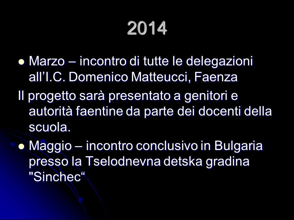 2014 Marzo – incontro di tutte le delegazioni all'I.C. Domenico Matteucci, Faenza Marzo – incontro di tutte le delegazioni all'I.C. Domenico Matteucci