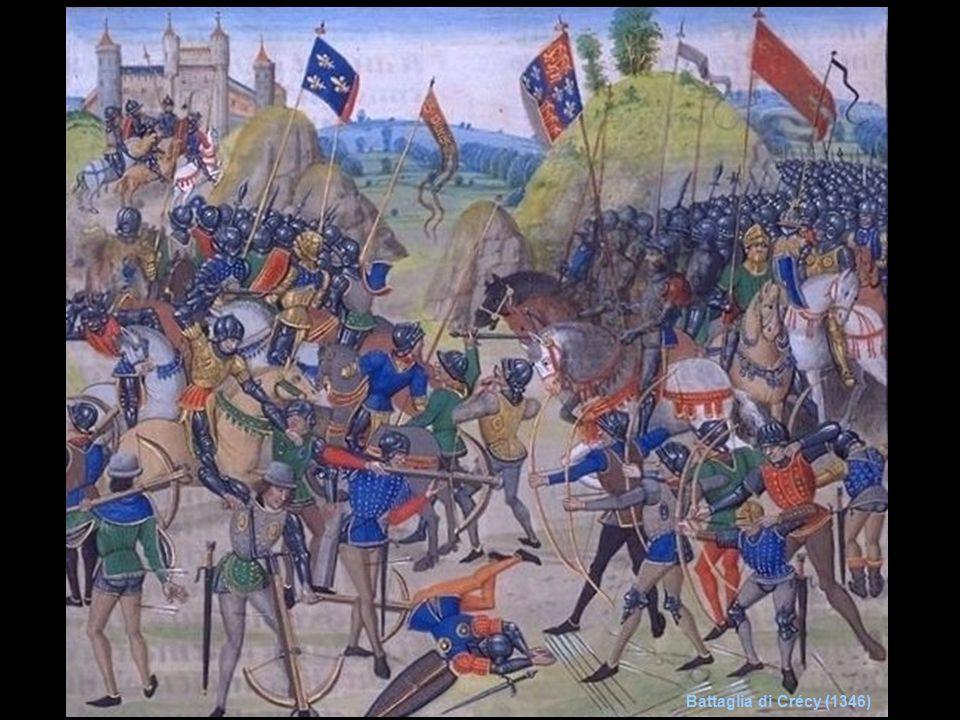 Nuovi successi inglesi Sotto Carlo VI (1380-1422), incapace di regnare per la giovane età e per la pazzia, si scatenano le lotte tra le famiglie dei Borgogna e degli Orleans.