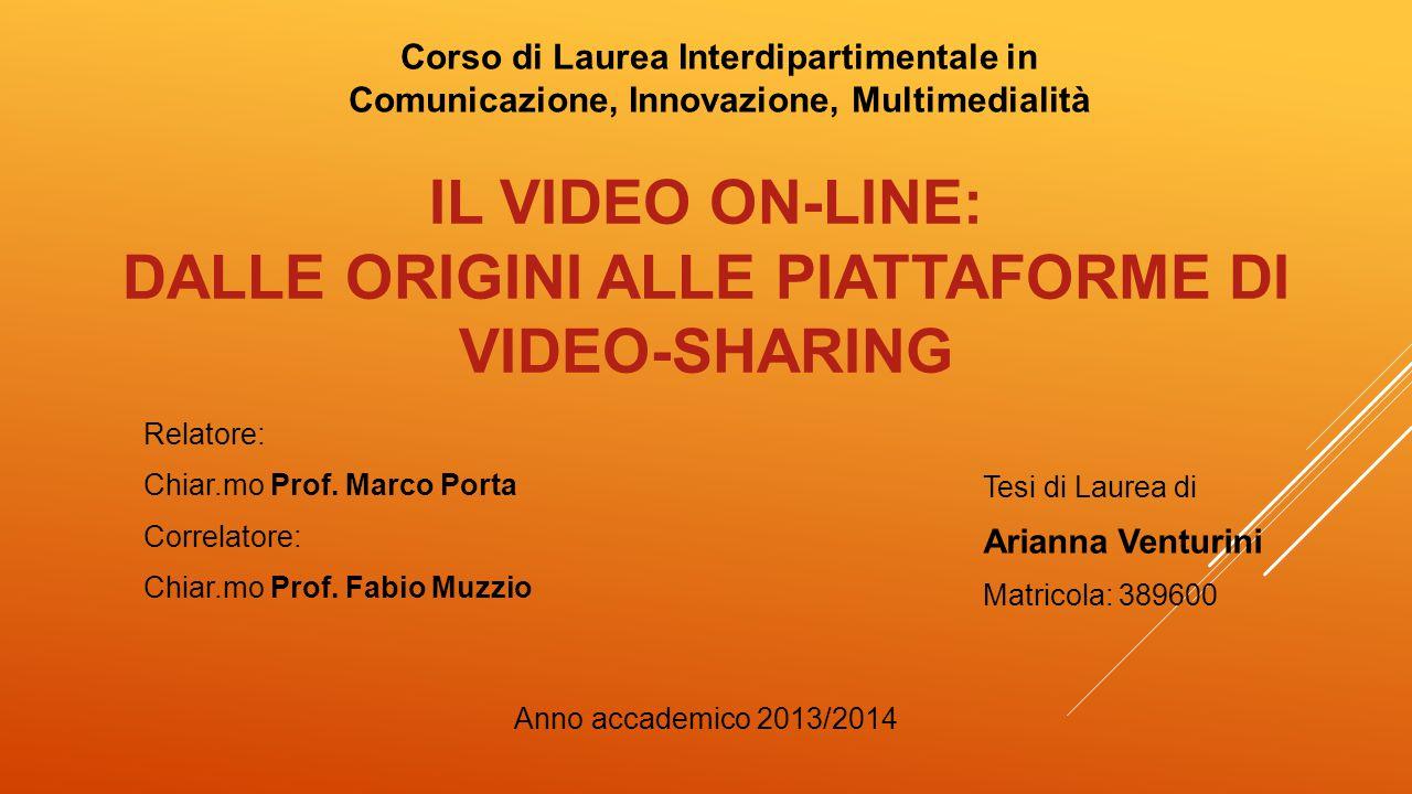 Anno accademico 2013/2014 Tesi di Laurea di Arianna Venturini Matricola: 389600 Relatore: Chiar.mo Prof. Marco Porta Correlatore: Chiar.mo Prof. Fabio