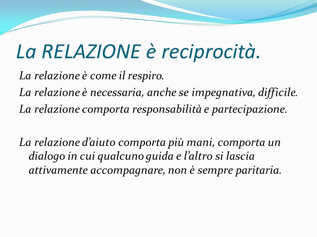 La RELAZIONE è reciprocità.La relazione è come il respiro.