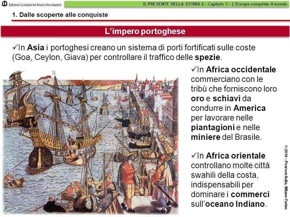 In Asia i portoghesi creano un sistema di porti fortificati sulle coste (Goa, Ceylon, Giava) per controllare il traffico delle spezie. In Africa occid