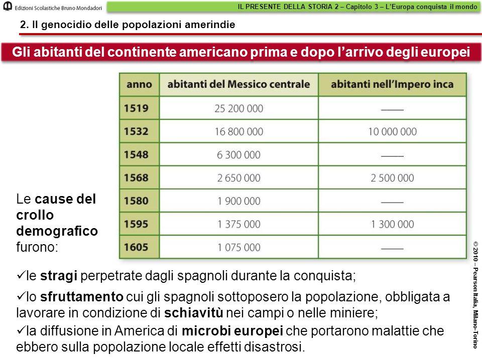la diffusione in America di microbi europei che portarono malattie che ebbero sulla popolazione locale effetti disastrosi. IL PRESENTE DELLA STORIA 2