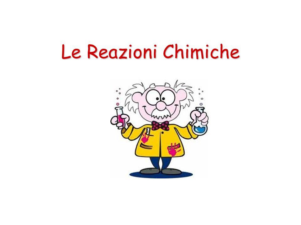Le Reazioni Chimiche Legge di Lavoisier In una reazione chimica nulla si crea e nulla si distrugge: la somma delle masse dei reagenti è uguale alla somma delle masse dei prodotti.