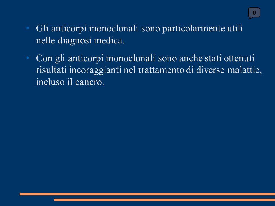 Gli anticorpi monoclonali sono particolarmente utili nelle diagnosi medica. Con gli anticorpi monoclonali sono anche stati ottenuti risultati incoragg