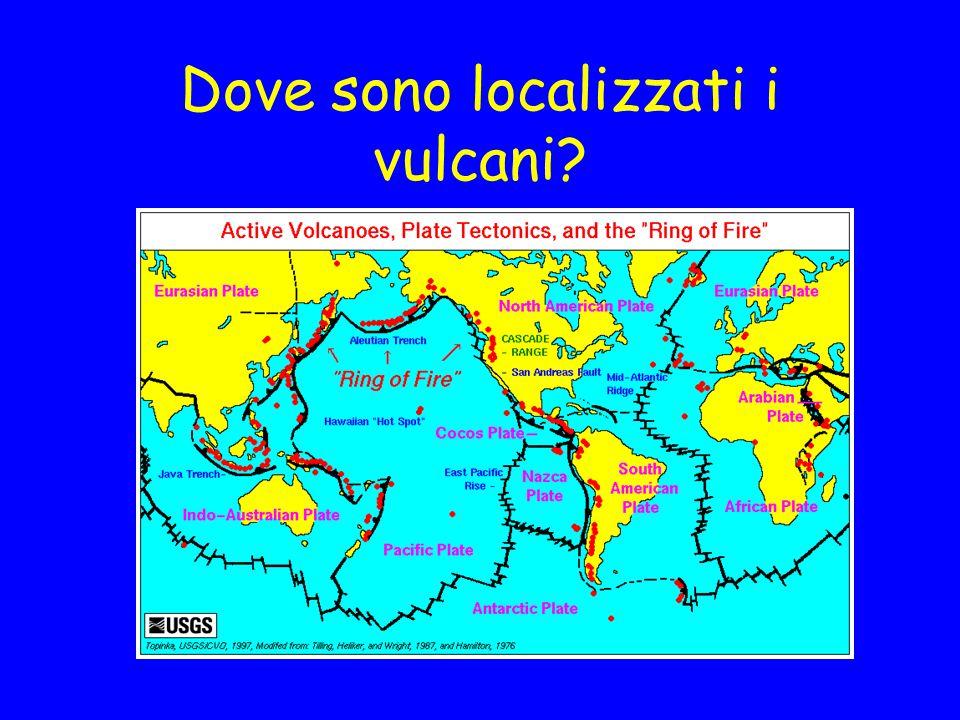 Obiettivi Illustrare la distribuzione geografica dei vulcani e spiegarne il significato secondo il modello della tettonica delle placche