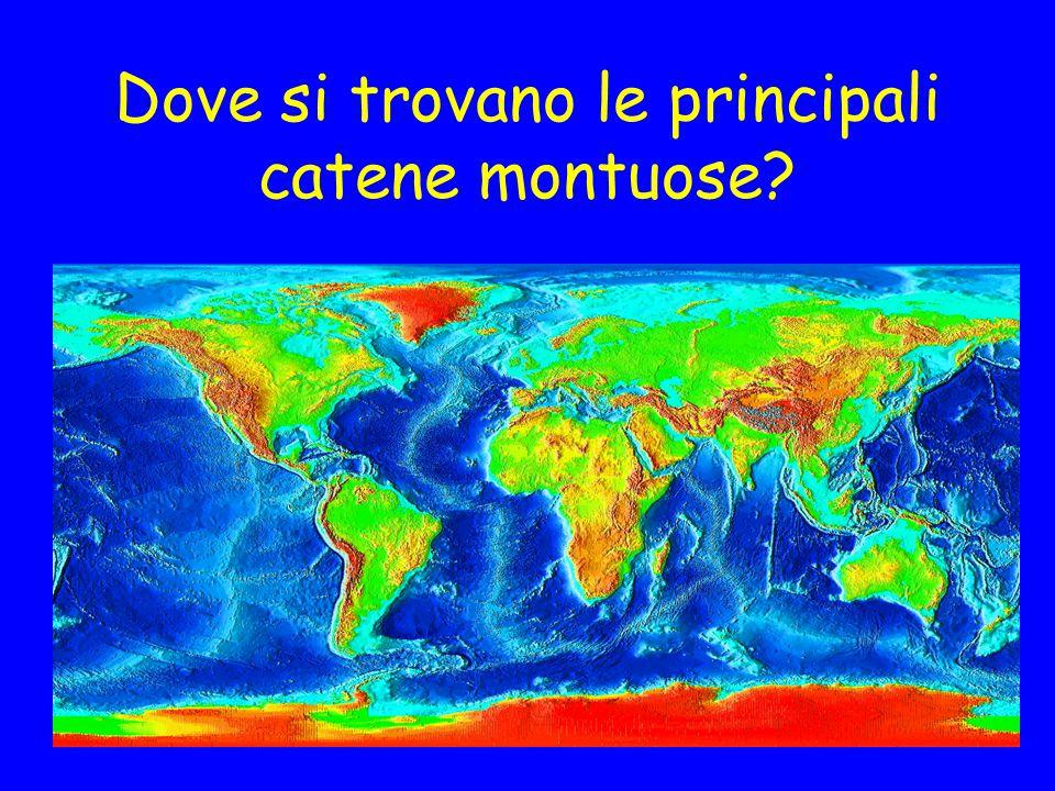 Dove sono localizzati i terremoti?