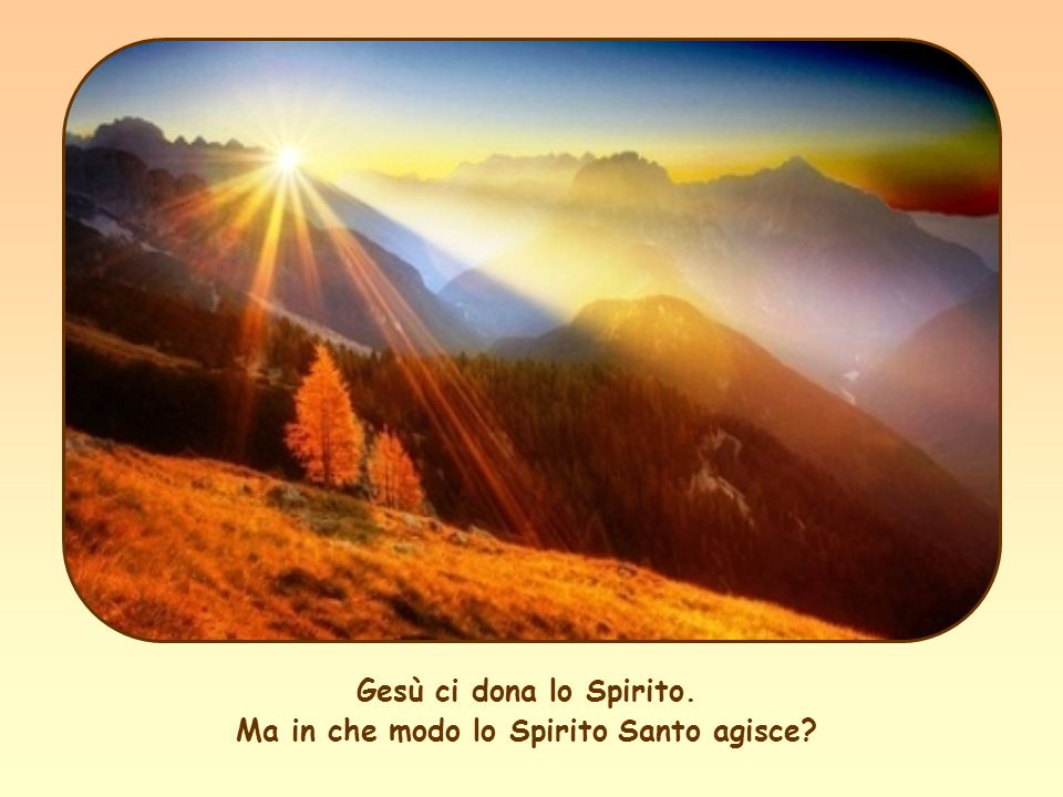 Gesù ci dona lo Spirito. Ma in che modo lo Spirito Santo agisce?
