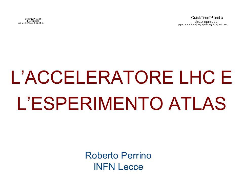 Roberto Perrino INFN Lecce L'ACCELERATORE LHC E L'ESPERIMENTO ATLAS