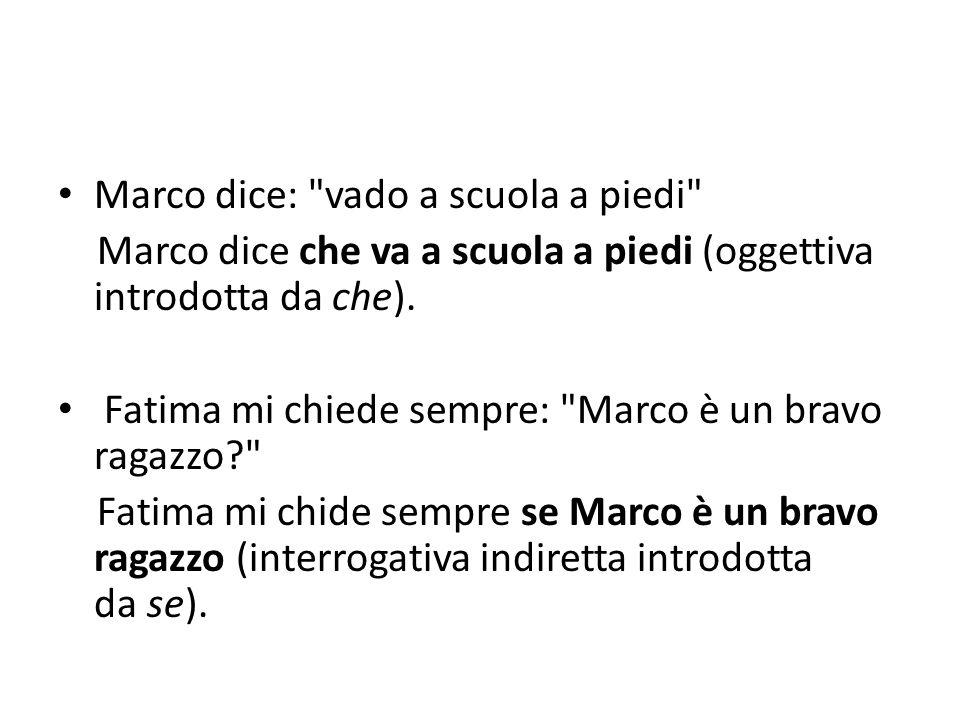 Marco dice: