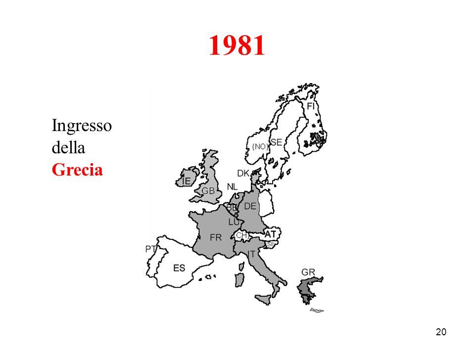 20 1981 Ingresso della Grecia