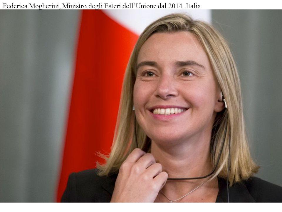 50 Federica Mogherini, Ministro degli Esteri dell'Unione dal 2014. Italia