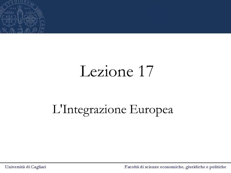 Lezione 17 L'Integrazione Europea
