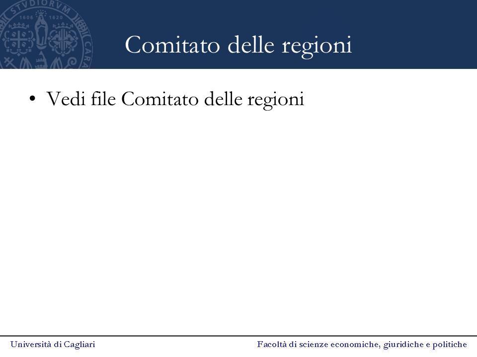 Comitato delle regioni Vedi file Comitato delle regioni