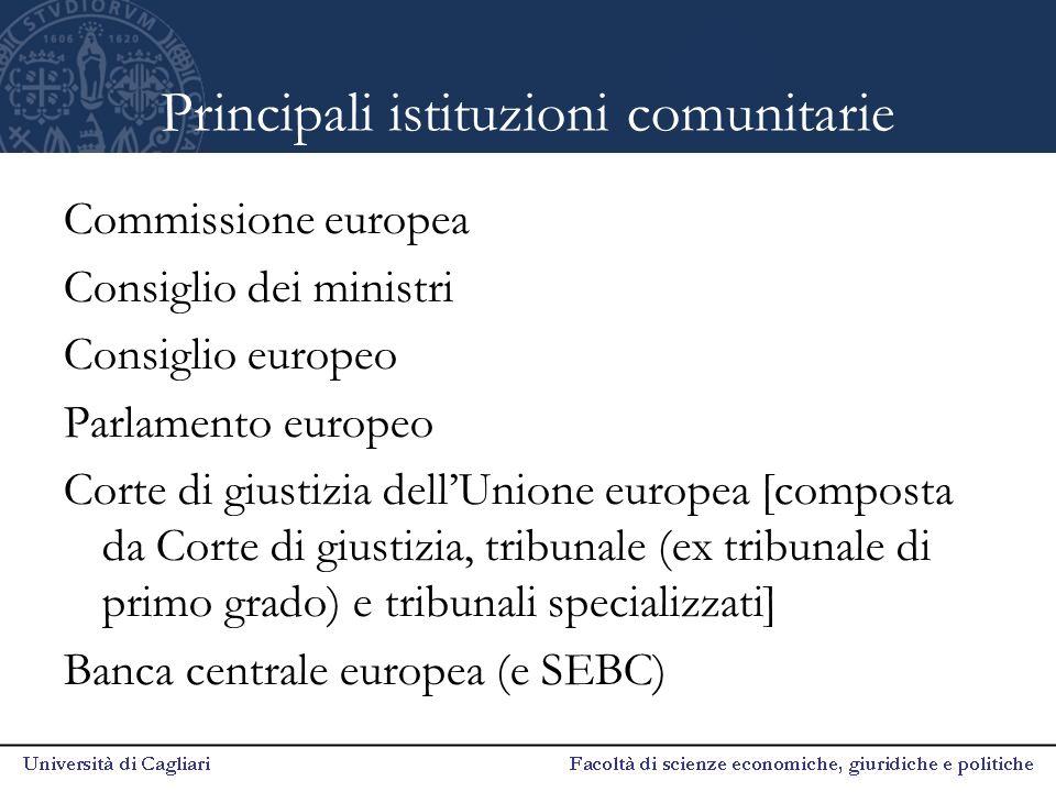 Altre istituzioni europee Comitato economico e sociale Comitato delle regioni Banca europea per gli investimenti Servizio europeo per l'azione esterna (ex Relex)