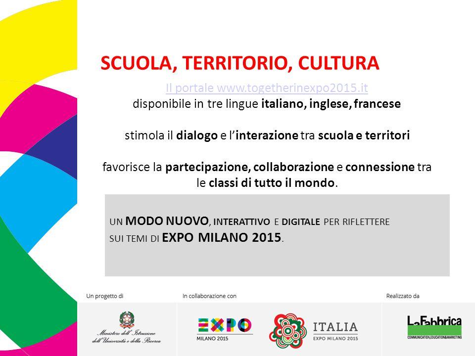 METODOLOGIA&ORGANIZZAZIONE Together in EXPO 2015: Propone una riflessione sul tema di EXPO Milano 2015 Nutrire il Pianeta, Energia per la vita declinandola attraverso i 5 itinerari tematici grazie ai contributi di esperti e partner del Network.