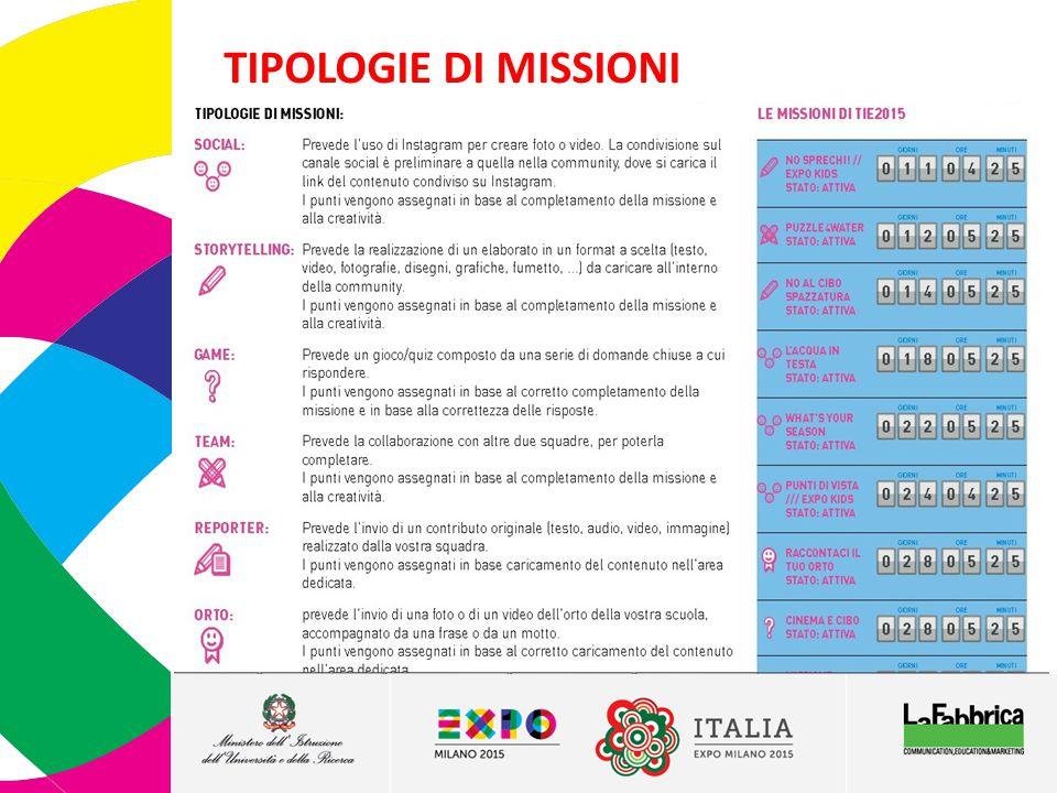 TIPOLOGIE DI MISSIONI