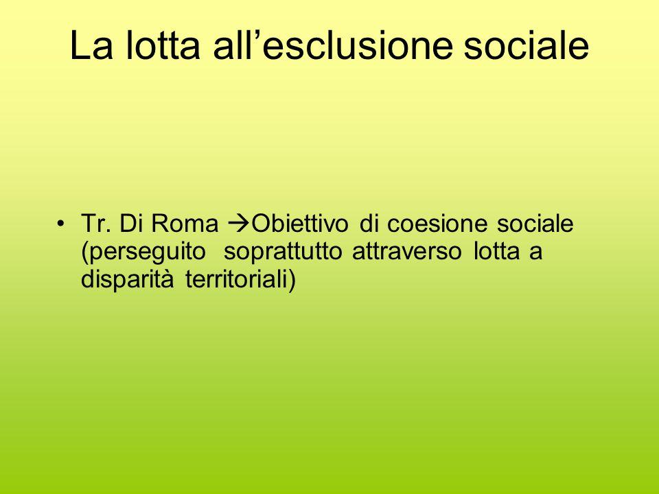 La lotta all'esclusione sociale Tr.