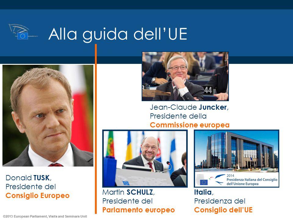 ©2013 European Parliament, Visits and Seminars Unit Alla guida dell'UE Jean-Claude Juncker, Presidente della Commissione europea Italia, Presidenza de