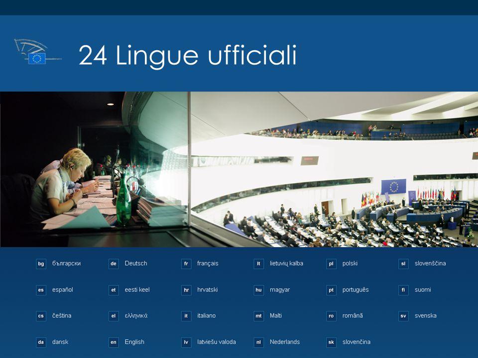 ©2013 European Parliament, Visits and Seminars Unit 24 Lingue ufficiali