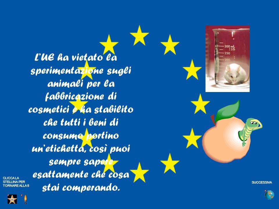 L'UE ha vietato la sperimentazione sugli animali per la fabbricazione di cosmetici e ha stabilito che tutti i beni di consumo portino un'etichetta, così puoi sempre sapere esattamente che cosa stai comperando.