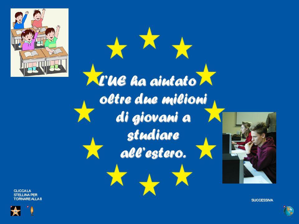 L'UE ha aiutato oltre due milioni di giovani a studiare all'estero.
