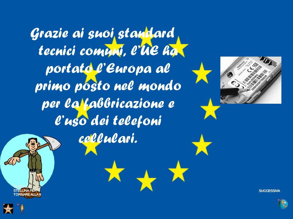 Grazie ai suoi standard tecnici comuni, l'UE ha portato l'Europa al primo posto nel mondo per la fabbricazione e l'uso dei telefoni cellulari.