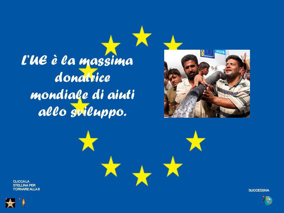L'UE è la massima donatrice mondiale di aiuti allo sviluppo.