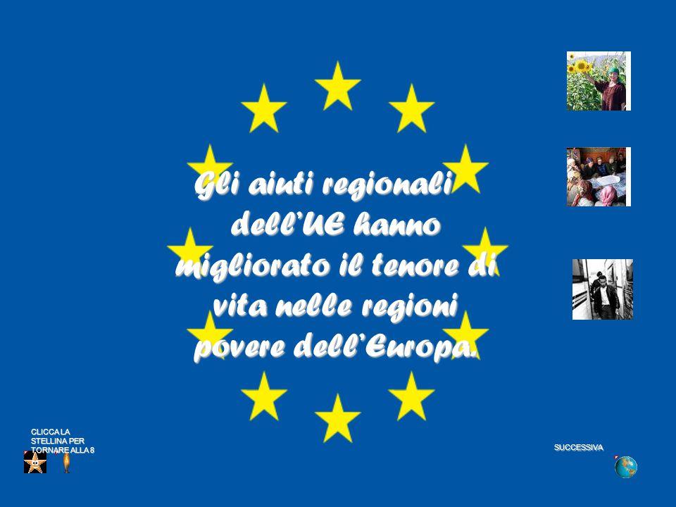 Gli aiuti regionali dell'UE hanno migliorato il tenore di vita nelle regioni povere dell'Europa.