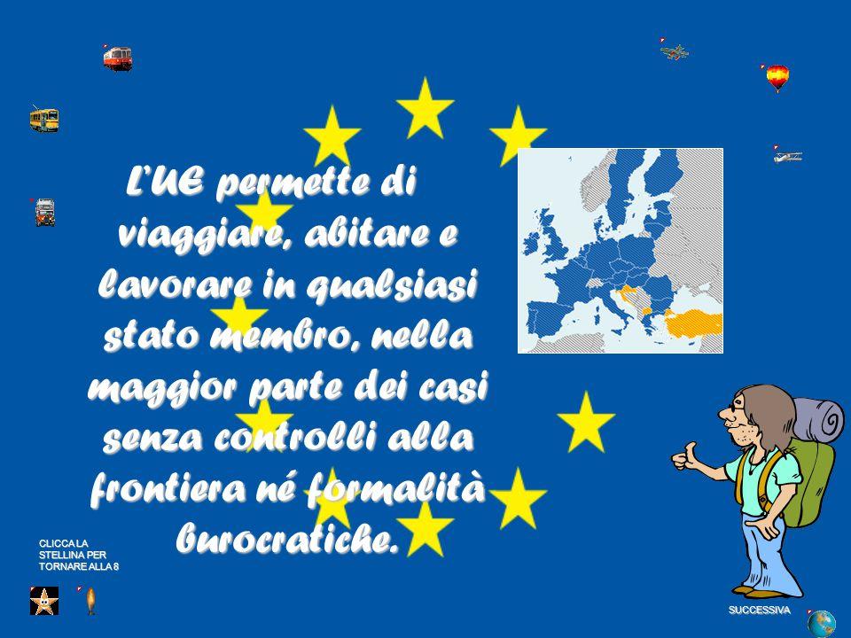 L'UE permette di viaggiare, abitare e lavorare in qualsiasi stato membro, nella maggior parte dei casi senza controlli alla frontiera né formalità burocratiche.