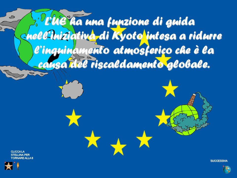 L'UE ha una funzione di guida nell'iniziativa di Kyoto intesa a ridurre l'inquinamento atmosferico che è la causa del riscaldamento globale.