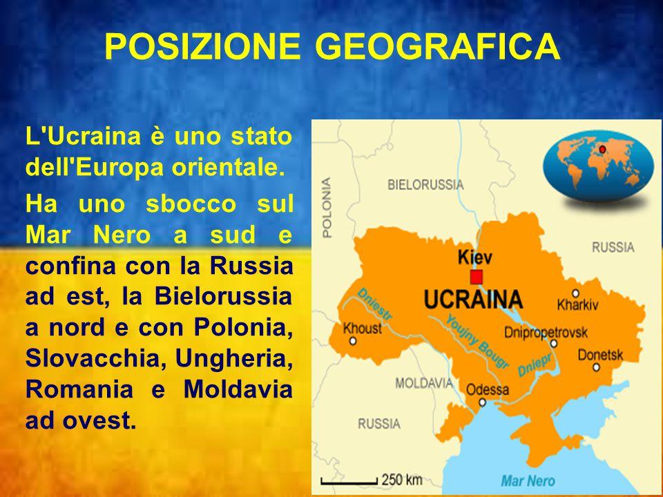 TERRITORIO Il paesaggio ucraino consiste prevalentemente di fertili pianure o steppe attraversate dai fiumi, Dnepr, Donec, Nistro, e Bug che vanno a gettarsi nel Mar Nero.
