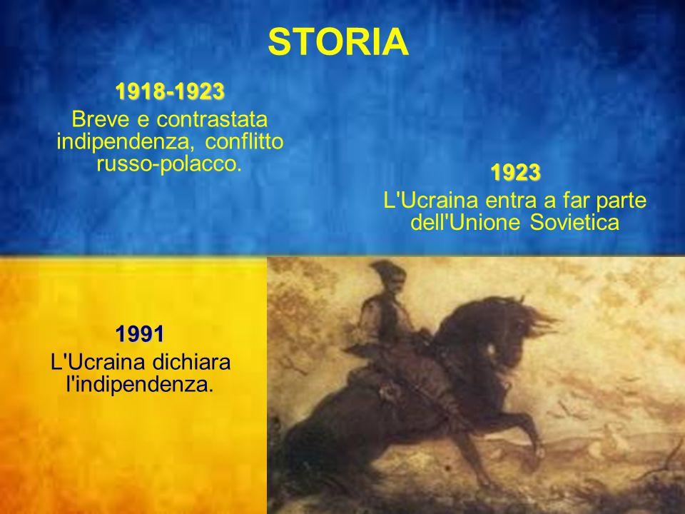 STORIA 1918-1923 Breve e contrastata indipendenza, conflitto russo-polacco.