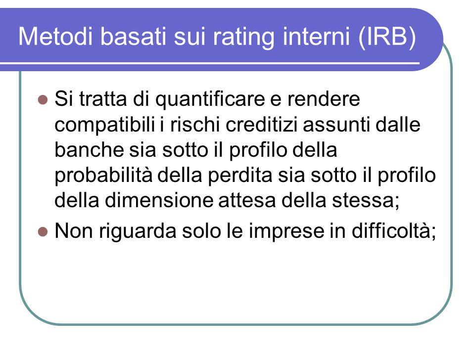 Si tratta di quantificare e rendere compatibili i rischi creditizi assunti dalle banche sia sotto il profilo della probabilità della perdita sia sotto