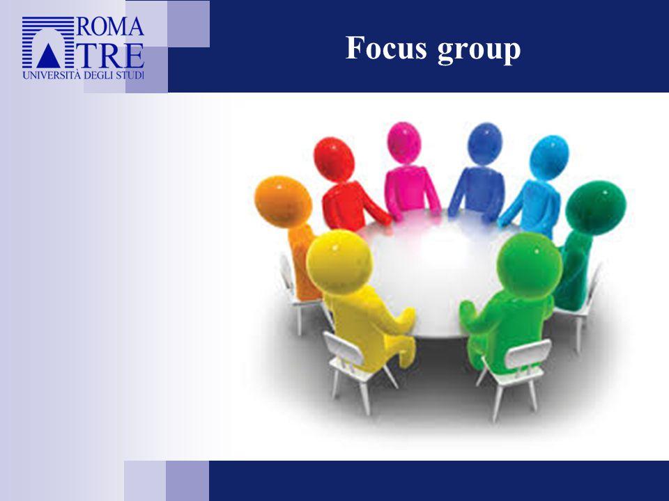 Tecnica di rilevazione per la ricerca sociale, basata sulla discussione tra un piccolo gruppo di persone, alla presenza di uno o più moderatori, focalizzata su un argomento che si vuole indagare in profondità .
