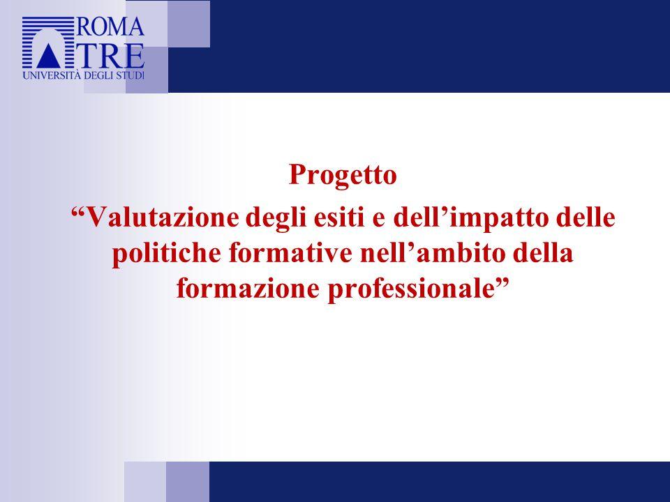 """Progetto """"Valutazione degli esiti e dell'impatto delle politiche formative nell'ambito della formazione professionale"""""""