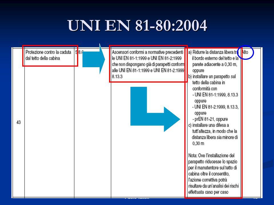 48 Anacam Convegni Manutenzione 2005 - Paolo Tattoli UNI EN 81-80:2004