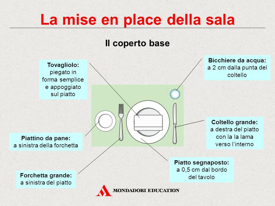 Per aggiungere o rimuovere un coperto durante il servizio: - appoggiare su di un piatto piano il tovagliolo - disporvi sopra le forchette e i cucchiai
