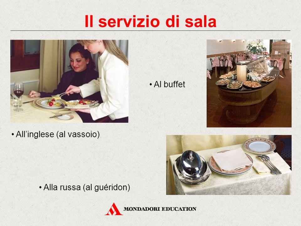 All'italiana (al piatto) Alla francese I metodi di servizio Il servizio di sala