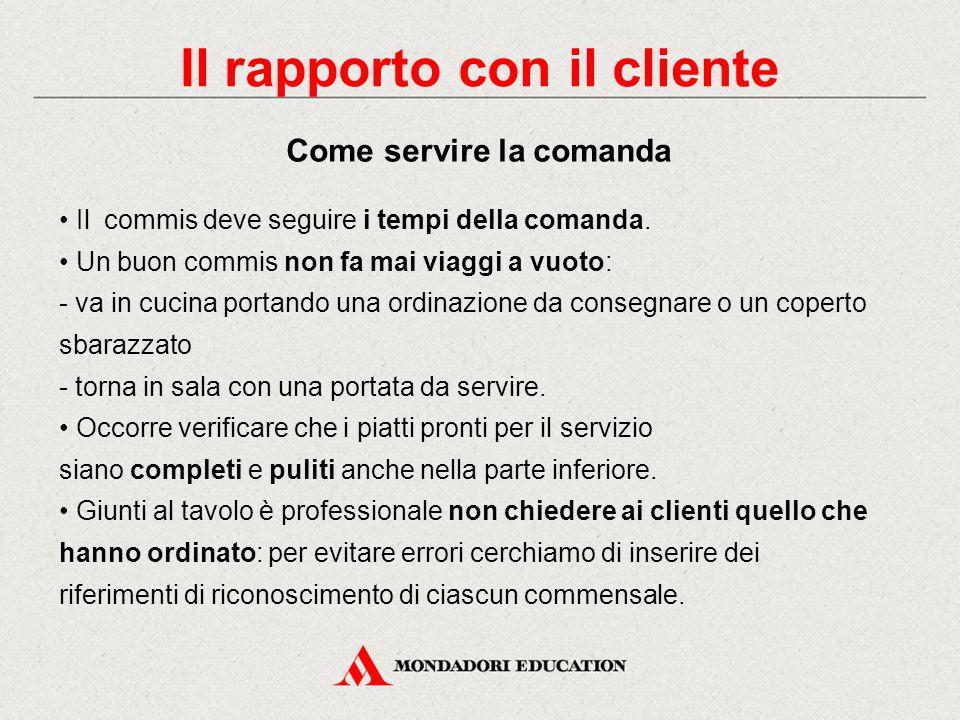 Il rapporto con il cliente Accoglienza dell'ospite e compilazione della comanda
