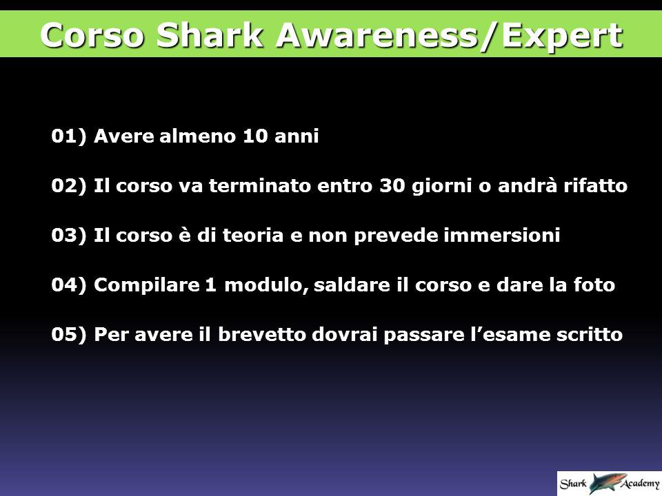 Brevetti di Shark Awareness Specialty NADDUTR Corso Shark Awareness/Expert