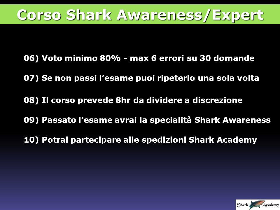 Diploma di Shark Awareness/Expert Corso Shark Awareness/Expert