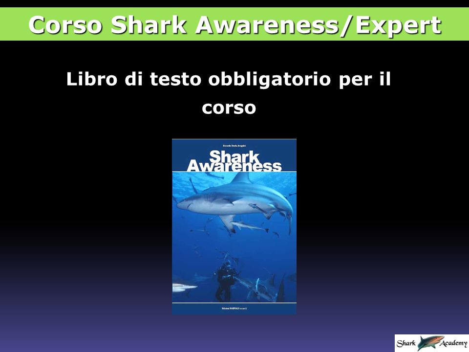 ESAME FINALE Corso Shark Awareness/Expert Se fai più di 6 errori rifai subito l'esame con il form A/B di lettera opposta La votazione finale sarà comunque dell'80%